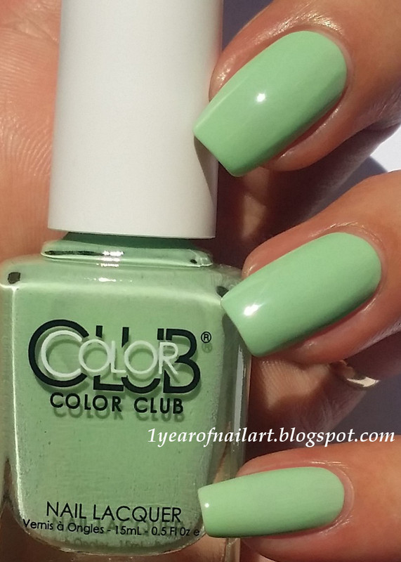 Color Club La petite mint-sieur Swatch by Margriet Sijperda