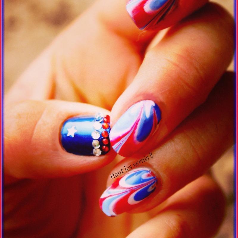 France coupe du monde nail art by Elodie Mayer