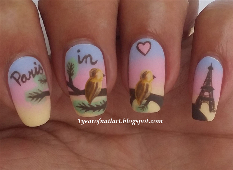 Paris in Love nail art by Margriet Sijperda