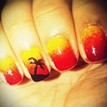 Sunset nail art by Preeya Vadukar