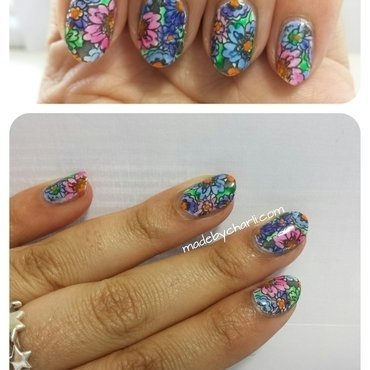 Flower Power nail art by Charli Searchwell-Guest