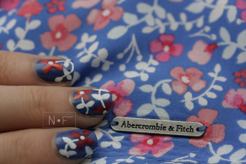Inspired by a skirt nail art by NerdyFleurty