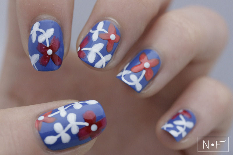Inspired by a skirt (2) nail art by NerdyFleurty