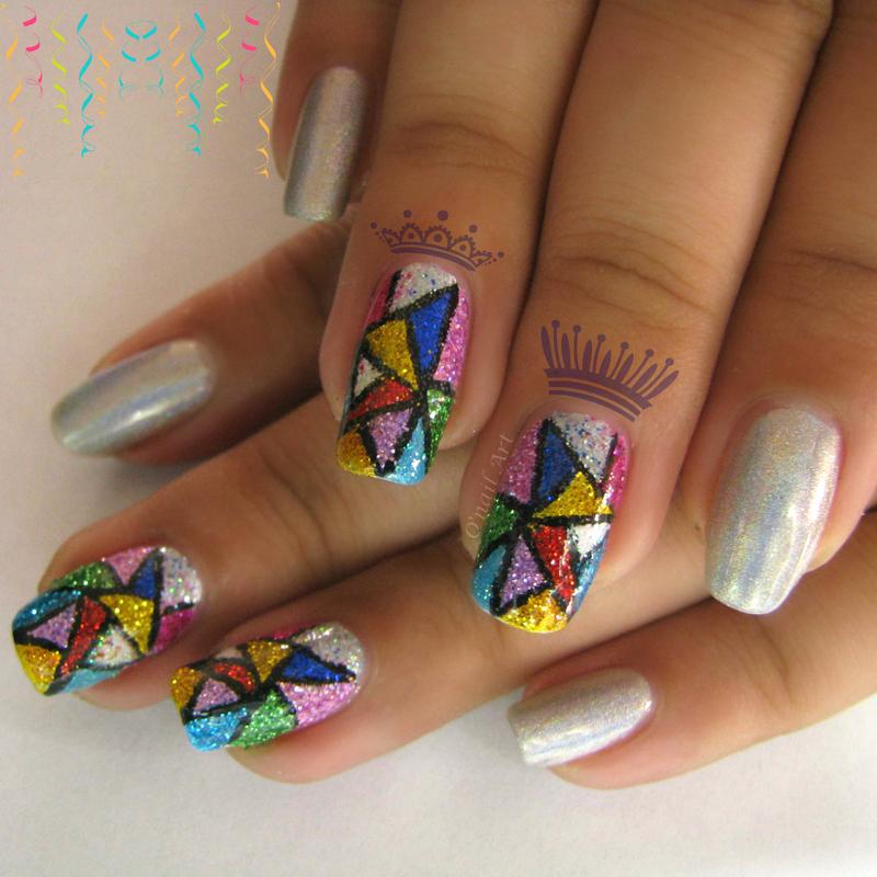 Royal Mosaic nail art by OnailArt