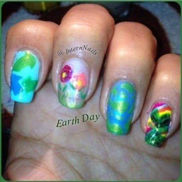 Safe The Earth  nail art by Milpa  InternNails