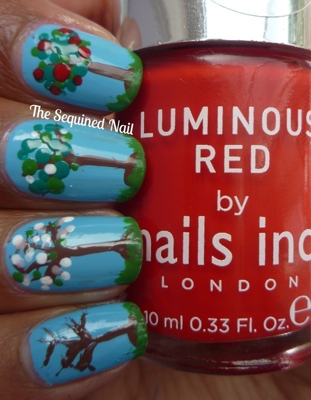 Lacquer Legion - Garden nail art by TheSequinedNail