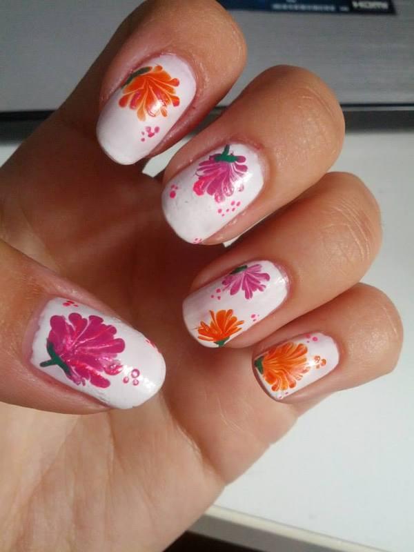 Summer Flowers nail art by TheBeautycake