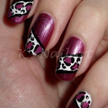 Leopard print nails thumb370f