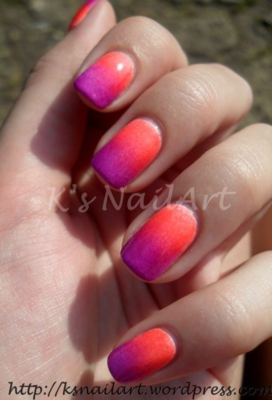 "Neon Gradient nail art by Kairi E ""K's NailArt"""