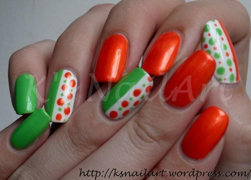 """Spring Dots nail art by Kairi E """"K's NailArt"""""""