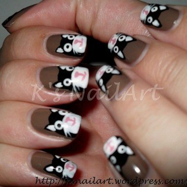 "Black Cats nail art by Kairi E ""K's NailArt"""