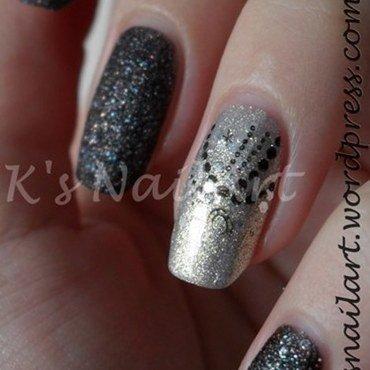 """Diamonds nail art by Kairi E """"K's NailArt"""""""