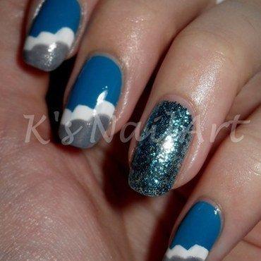 """Cloud Nails nail art by Kairi E """"K's NailArt"""""""