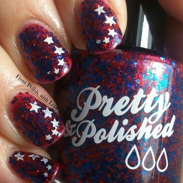 Pretty   patriotic with stamping thumb370f
