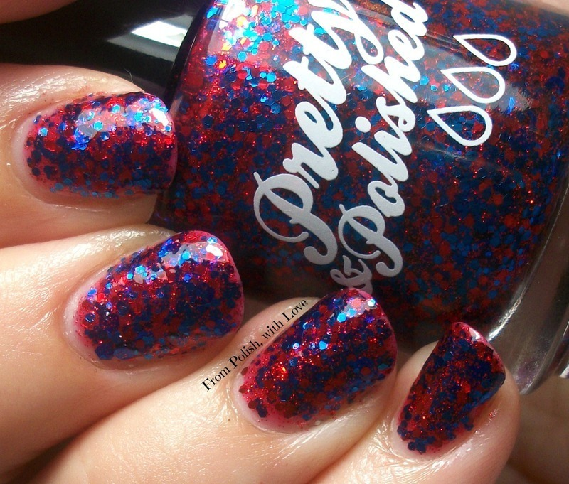 Pretty & Polished Pretty & Patriotic Swatch by Dani