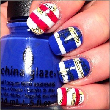Nautical nail art by Nails_In_Style
