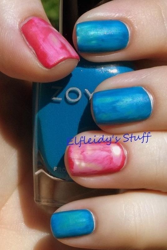 Eroded bright nail art by Jenette Maitland-Tomblin