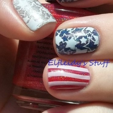 Memorial Day nail art by Jenette Maitland-Tomblin