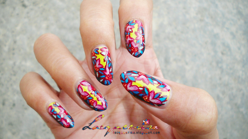 Vividly Painted nail art by Lacqueerisa