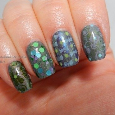 Dwimorberg Skittle nail art by Lacquer or Leave Her! Michelle Chouinard