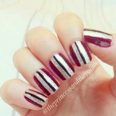 Stripes nail art by Alexandra