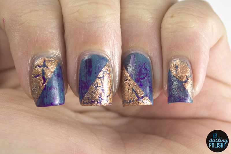 Distressed Crackle Nail Art By Marisa Cavanaugh Nailpolis Museum