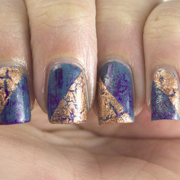 The never ending pile challenge crackle nail art 3 thumb370f