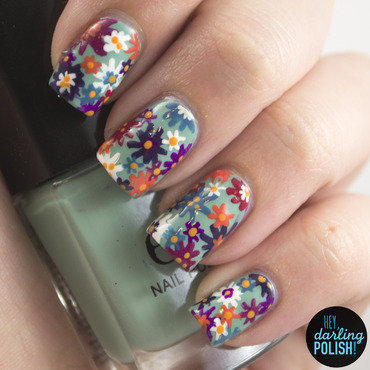 Flower Garden nail art by Marisa  Cavanaugh