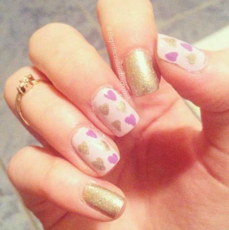 Valentine's Day Nail Art nail art by Alexandra