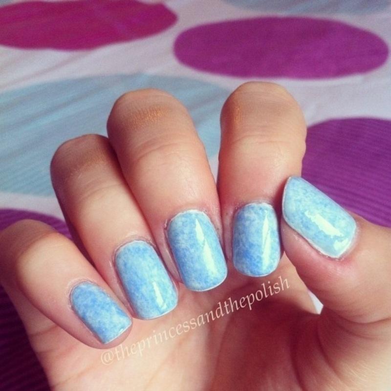 Saran Wrap nail art by Alexandra