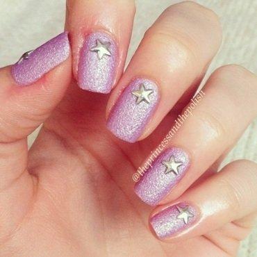 Violet Swizzle nail art by Alexandra