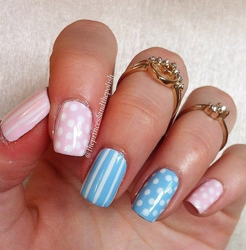 Cute pastels nail art by Alexandra