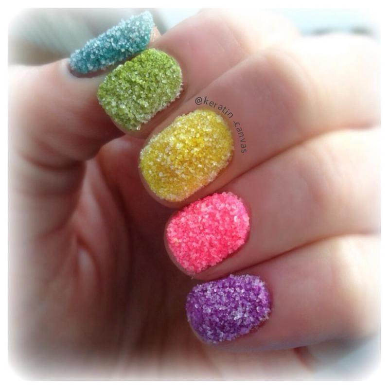 Sugar Coated Nails nail art by Amanda