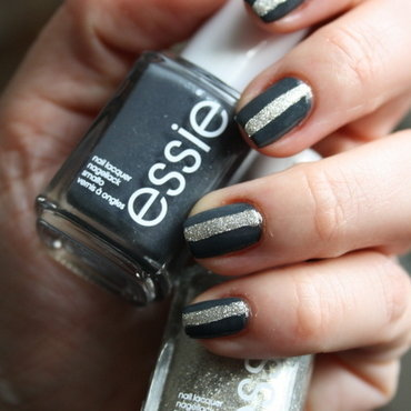Essie Beyond Cozy Nail Art nail art by Karo
