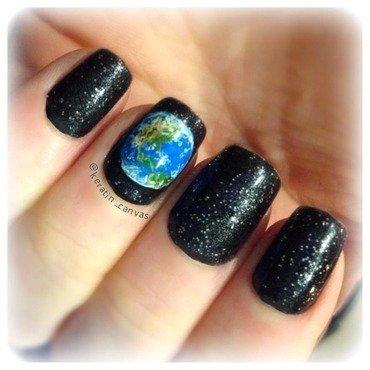 Earth nail art by Amanda