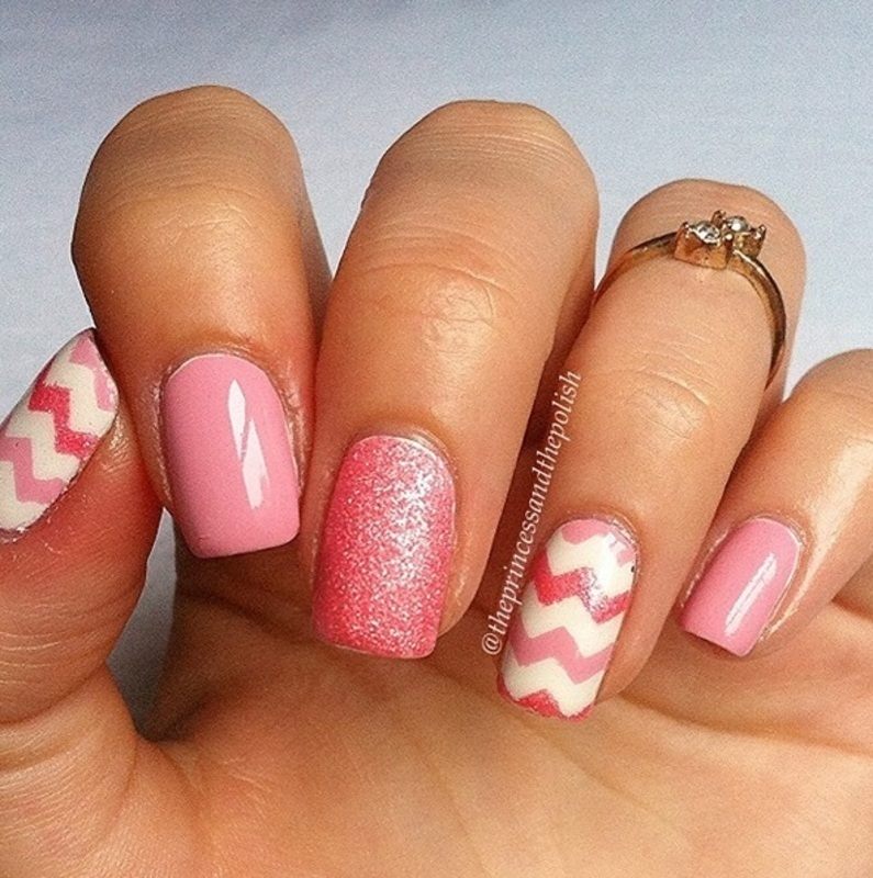 Chevron nail art by Alexandra