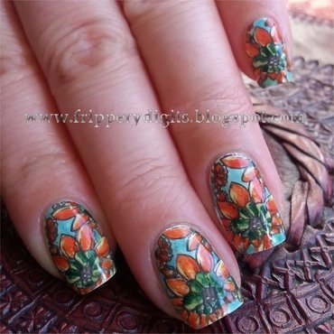 Hot Peppers nail art by JacQueline Keller