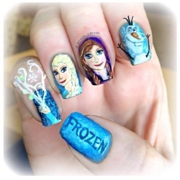 Frozen nail art by Amanda