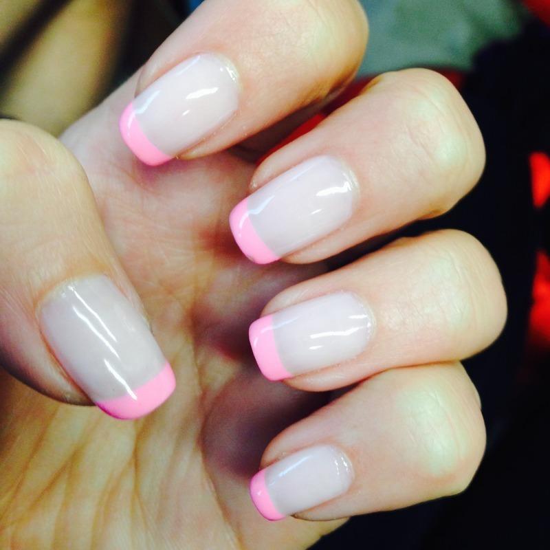 Summer French nail art by Sam Winnick
