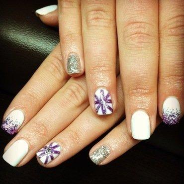 Random Sparkle Fun nail art by Sam Winnick