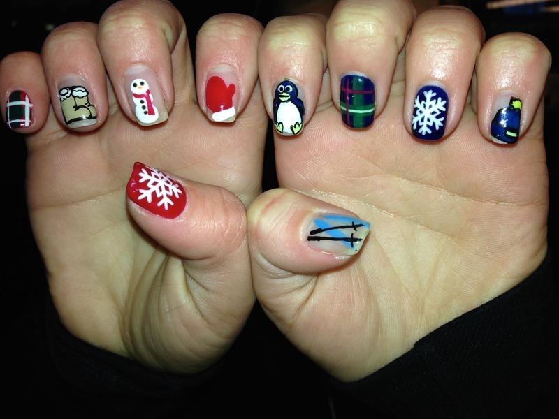 Winter Nails nail art by Sam Winnick