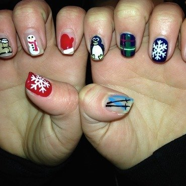 Winter Nails nail art by Sam Winnick