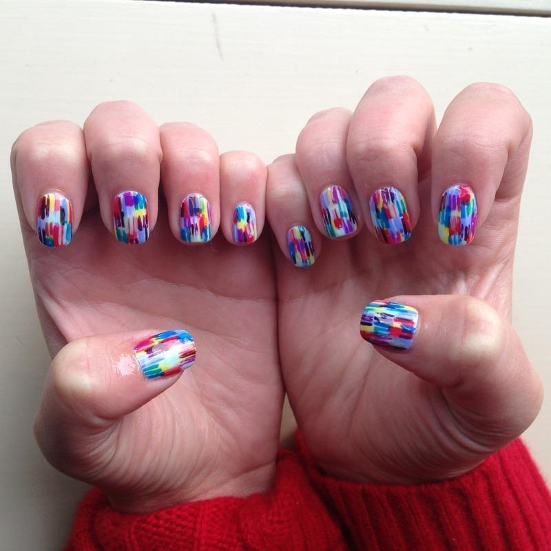 Austyn Wiener's Blurred Lines nail art by Sam Winnick