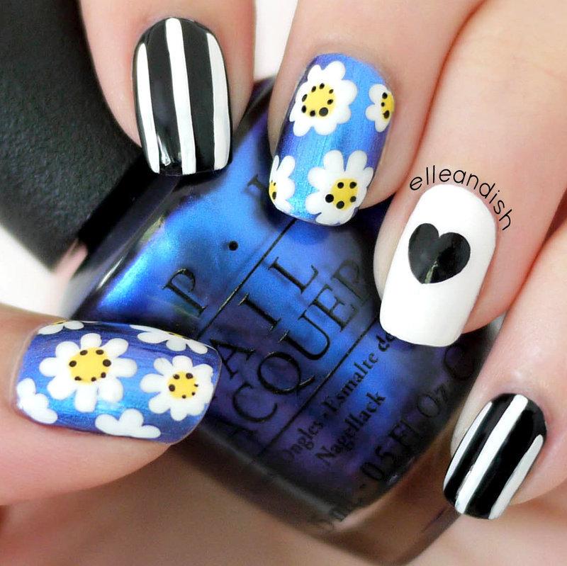 Lazy Daisy Nails nail art by elleandish