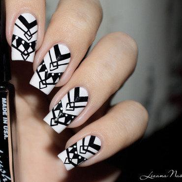 Nail art   npa mouton   noir et blanc  1  thumb370f