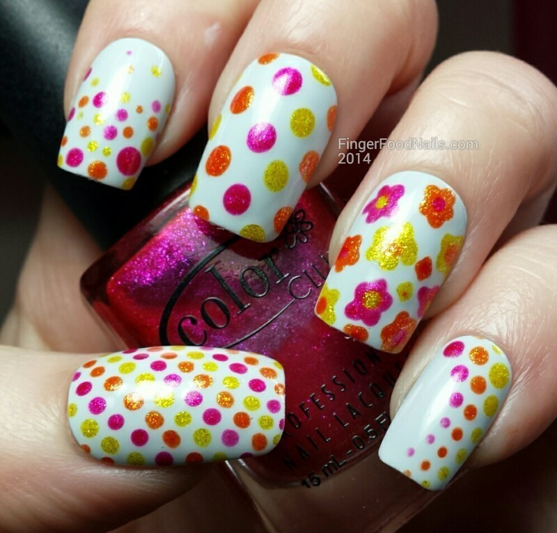 Dot-skittle-icure nail art by Sam