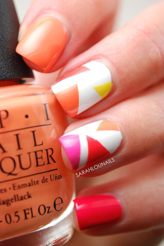 Abstract Triangle Nails nail art by Sarah S