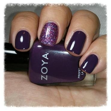 Zoya Monica with accent nail nail art by Moni'sMani