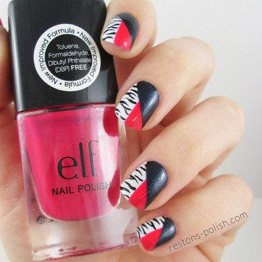 Nail art zebre thumb370f