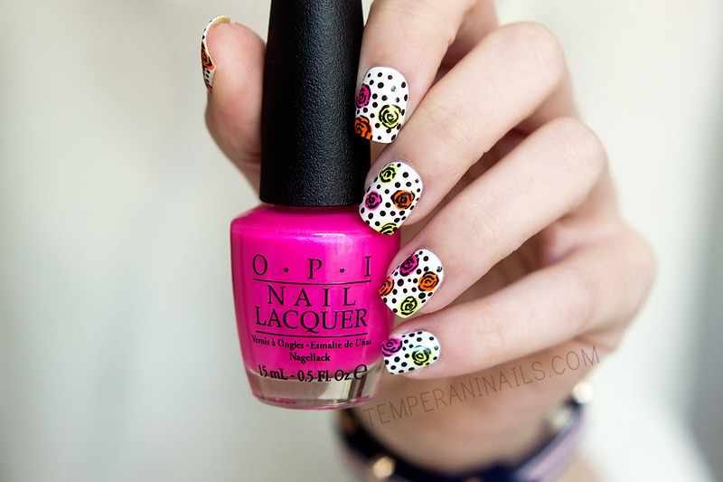 Cartoon inspired mani nail art by Temperani Nails